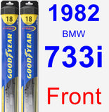Front Wiper Blade Pack for 1982 BMW 733i - Hybrid
