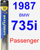 Passenger Wiper Blade for 1987 BMW 735i - Hybrid