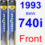 Front Wiper Blade Pack for 1993 BMW 740i - Hybrid