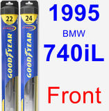 Front Wiper Blade Pack for 1995 BMW 740iL - Hybrid