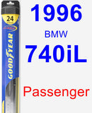 Passenger Wiper Blade for 1996 BMW 740iL - Hybrid