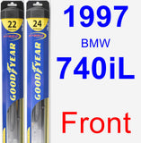 Front Wiper Blade Pack for 1997 BMW 740iL - Hybrid
