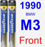 Front Wiper Blade Pack for 1990 BMW M3 - Hybrid