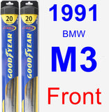 Front Wiper Blade Pack for 1991 BMW M3 - Hybrid