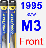 Front Wiper Blade Pack for 1995 BMW M3 - Hybrid
