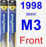 Front Wiper Blade Pack for 1998 BMW M3 - Hybrid