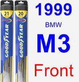 Front Wiper Blade Pack for 1999 BMW M3 - Hybrid