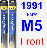Front Wiper Blade Pack for 1991 BMW M5 - Hybrid