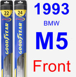 Front Wiper Blade Pack for 1993 BMW M5 - Hybrid