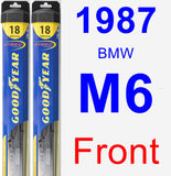 Front Wiper Blade Pack for 1987 BMW M6 - Hybrid