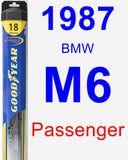 Passenger Wiper Blade for 1987 BMW M6 - Hybrid