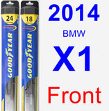 Front Wiper Blade Pack for 2014 BMW X1 - Hybrid