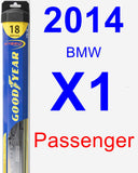 Passenger Wiper Blade for 2014 BMW X1 - Hybrid