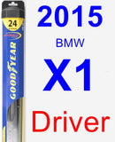 Driver Wiper Blade for 2015 BMW X1 - Hybrid