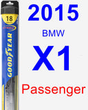 Passenger Wiper Blade for 2015 BMW X1 - Hybrid