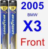 Front Wiper Blade Pack for 2005 BMW X3 - Hybrid