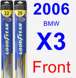 Front Wiper Blade Pack for 2006 BMW X3 - Hybrid