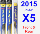 Front & Rear Wiper Blade Pack for 2015 BMW X5 - Hybrid