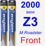 Front Wiper Blade Pack for 2000 BMW Z3 - Hybrid