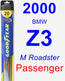 Passenger Wiper Blade for 2000 BMW Z3 - Hybrid