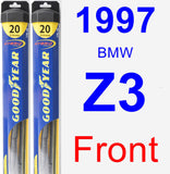 Front Wiper Blade Pack for 1997 BMW Z3 - Hybrid
