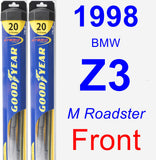 Front Wiper Blade Pack for 1998 BMW Z3 - Hybrid