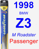 Passenger Wiper Blade for 1998 BMW Z3 - Hybrid