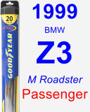 Passenger Wiper Blade for 1999 BMW Z3 - Hybrid