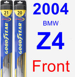 Front Wiper Blade Pack for 2004 BMW Z4 - Hybrid