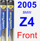 Front Wiper Blade Pack for 2005 BMW Z4 - Hybrid