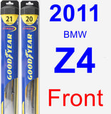 Front Wiper Blade Pack for 2011 BMW Z4 - Hybrid