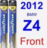 Front Wiper Blade Pack for 2012 BMW Z4 - Hybrid