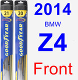 Front Wiper Blade Pack for 2014 BMW Z4 - Hybrid