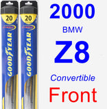Front Wiper Blade Pack for 2000 BMW Z8 - Hybrid