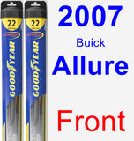 Front Wiper Blade Pack for 2007 Buick Allure - Hybrid