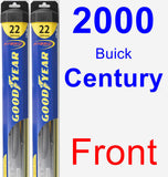 Front Wiper Blade Pack for 2000 Buick Century - Hybrid