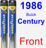 Front Wiper Blade Pack for 1986 Buick Century - Hybrid