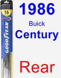 Rear Wiper Blade for 1986 Buick Century - Hybrid