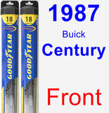 Front Wiper Blade Pack for 1987 Buick Century - Hybrid