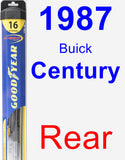 Rear Wiper Blade for 1987 Buick Century - Hybrid