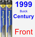 Front Wiper Blade Pack for 1999 Buick Century - Hybrid