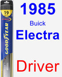 Driver Wiper Blade for 1985 Buick Electra - Hybrid