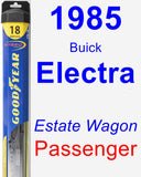 Passenger Wiper Blade for 1985 Buick Electra - Hybrid