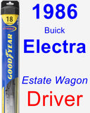 Driver Wiper Blade for 1986 Buick Electra - Hybrid