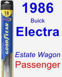 Passenger Wiper Blade for 1986 Buick Electra - Hybrid