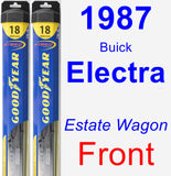 Front Wiper Blade Pack for 1987 Buick Electra - Hybrid