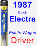 Driver Wiper Blade for 1987 Buick Electra - Hybrid