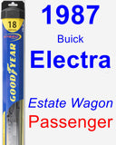 Passenger Wiper Blade for 1987 Buick Electra - Hybrid