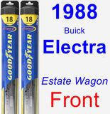 Front Wiper Blade Pack for 1988 Buick Electra - Hybrid