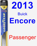 Passenger Wiper Blade for 2013 Buick Encore - Hybrid